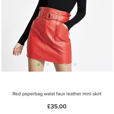 a67f00495d @xxcmxx. 6 months ago. Paisley, United Kingdom. River island. Red leather  skirt. Size 8