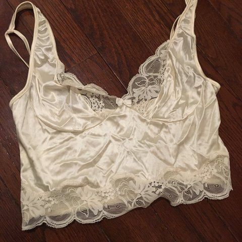0bab44c54 Vintage White Lace Bralette -Owned by my mom in the 80s or - Depop