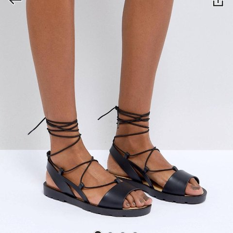 f1d1a4fdfc25 ASOS jelly sandals SIZE 5 WORN ONCE TO TRY ON and they are - Depop