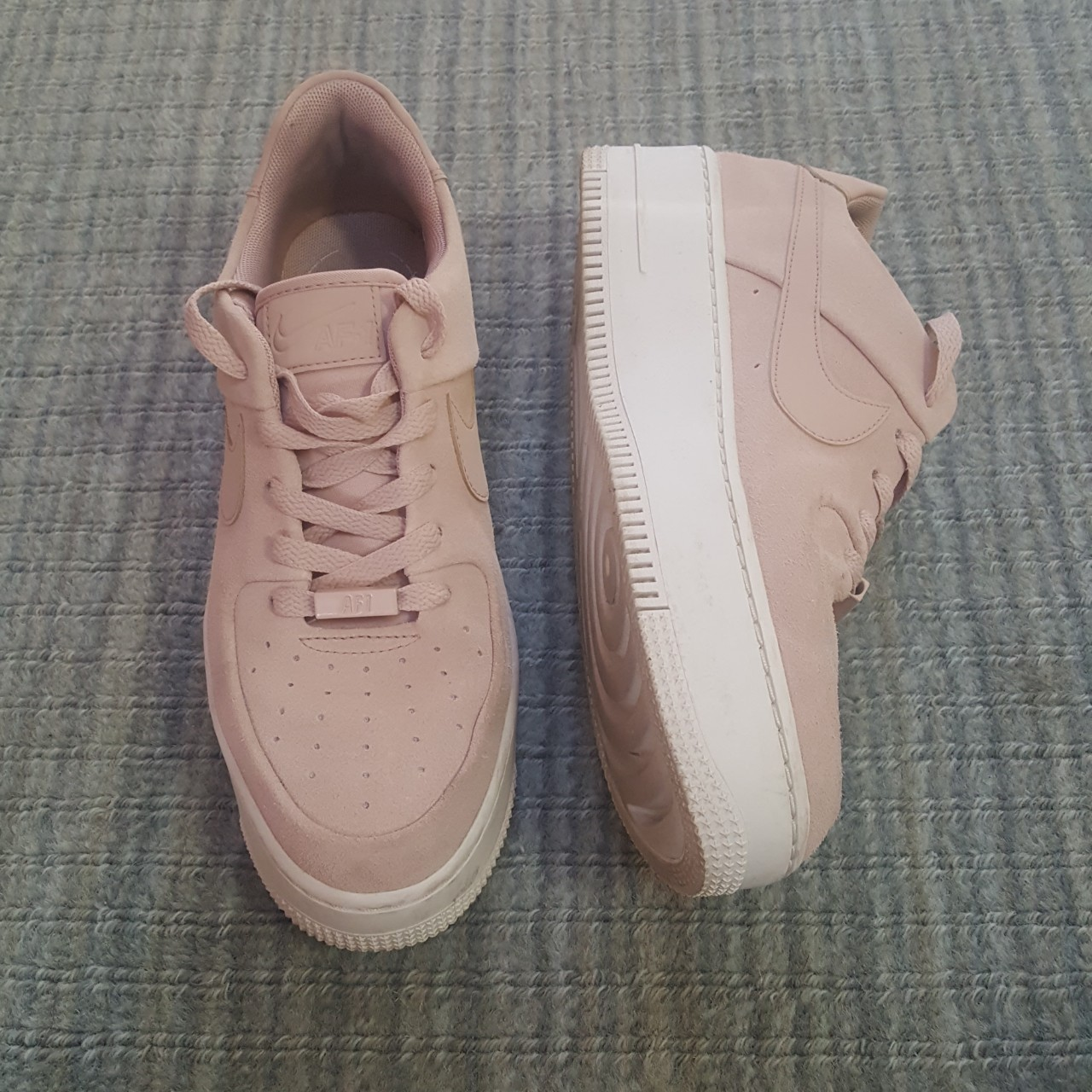 ☁ Nike Air Force 1 Saga Low in Beige ☁, Women's Fashion