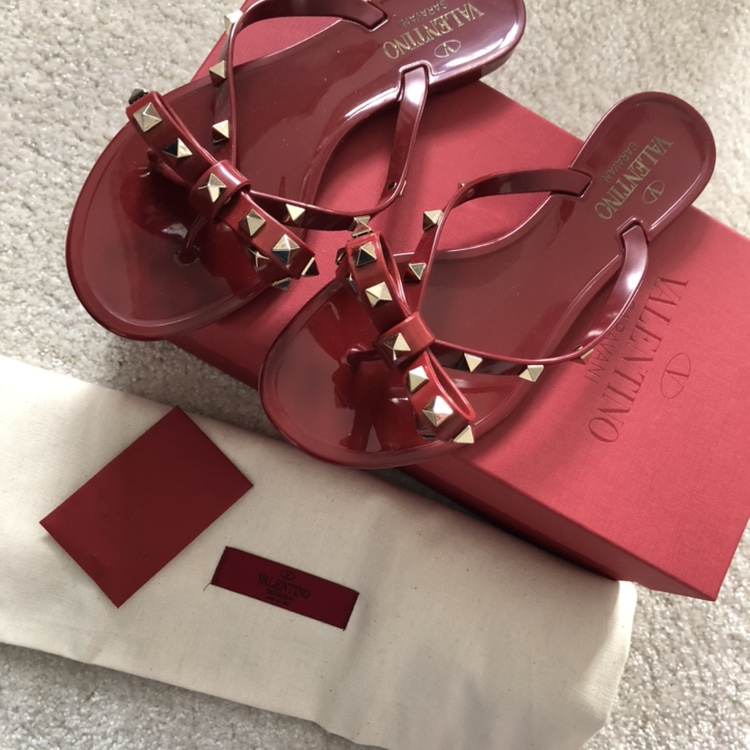 Gorgeous red Valentino jelly sandals