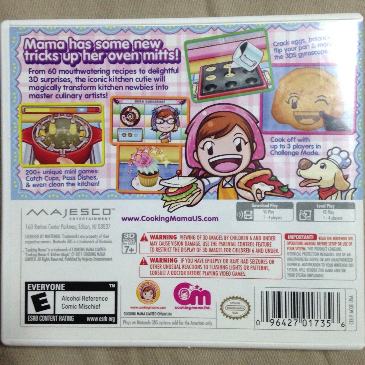Cooking Mama 4 Kitchen Magic For 3ds Used But It Depop