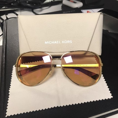 0760c3be3 @modelsown1. last year. Ilford, United Kingdom. Michael kors sunglasses.  Worn once. Pink lenses. Gold frames