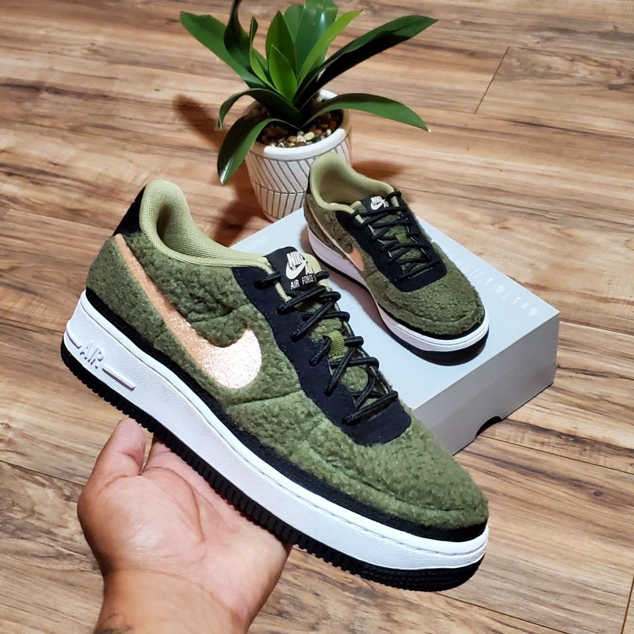Nike Air Force 1 Womens 8.5 BRAND NEW NEVER USED!!!... - Depop