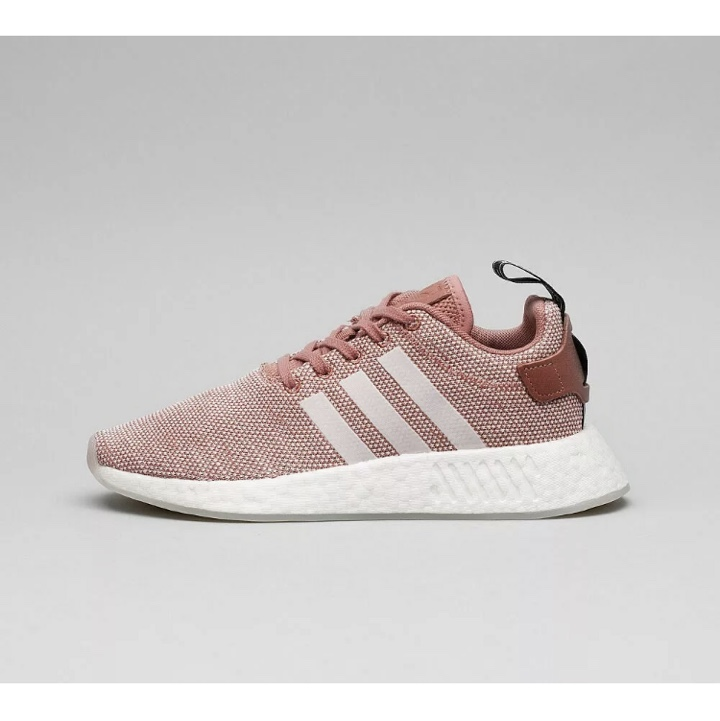 Womens Adidas NMD R2 Ash Pink/White Trainers RRP...
