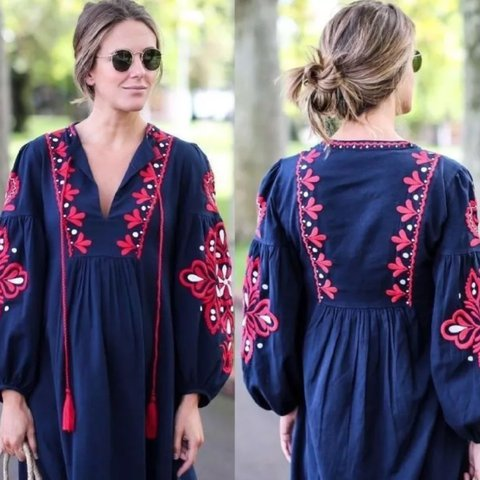 Zara Embroidered Dress Size Xs Never Worn Zara Depop