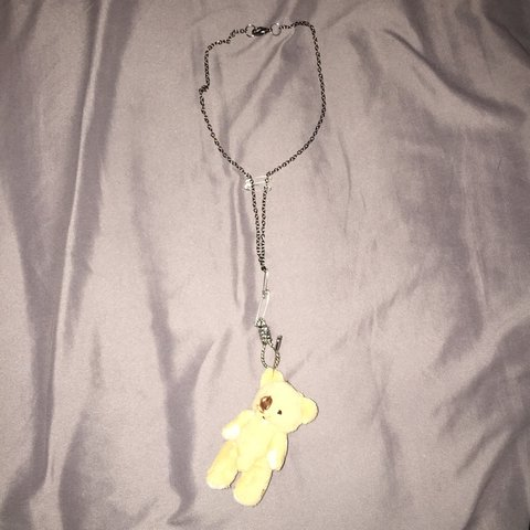 078d705087e NAME  P.A.W.S. teddy bear necklace in silver for u ❣❣❣ ~ - Depop