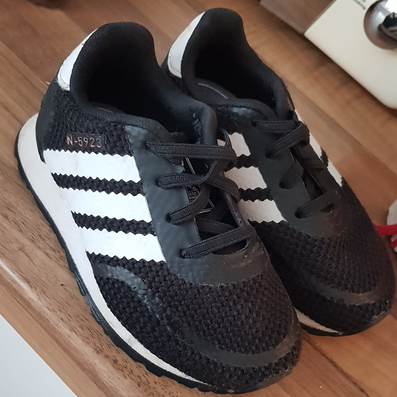 Infant size 6 adidas trainers, worn only a handful...