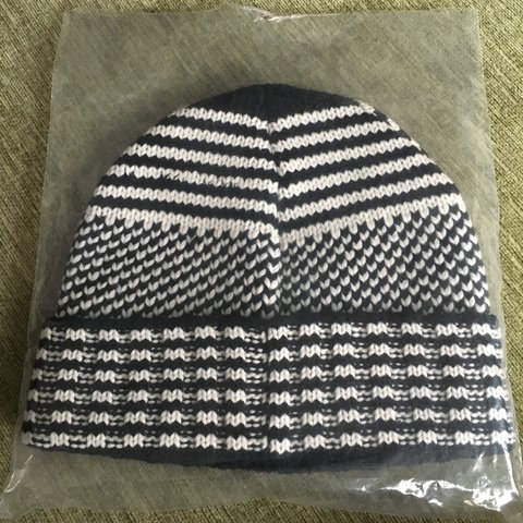 ef769cfcca884 Supreme wool jacquard beanie hat. Black and white. quality - Depop