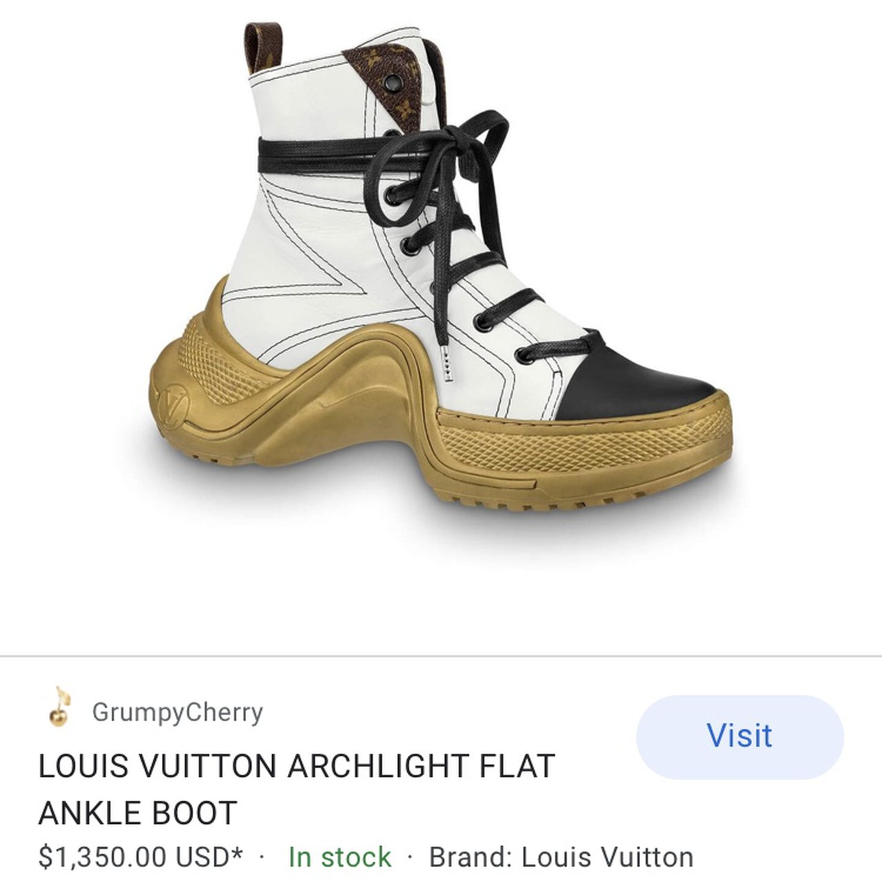 Louis Vuitton Archlight flat ankle boot