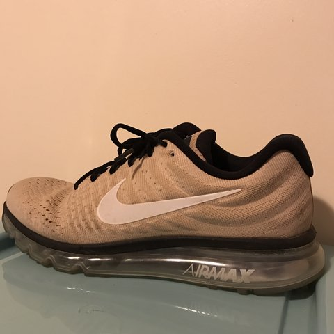 more photos 6be37 78da0 NIKE AIR MAX 2017 BIO BEIGE, WHITE   BLACK good as new - Depop