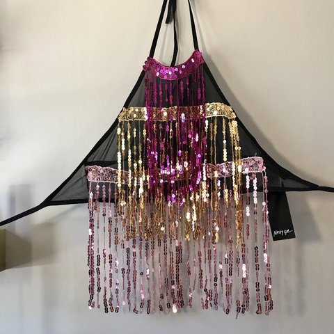 fe0b84f00499ff Brand new with tags on nasty gal sequin firework sequin neck - Depop
