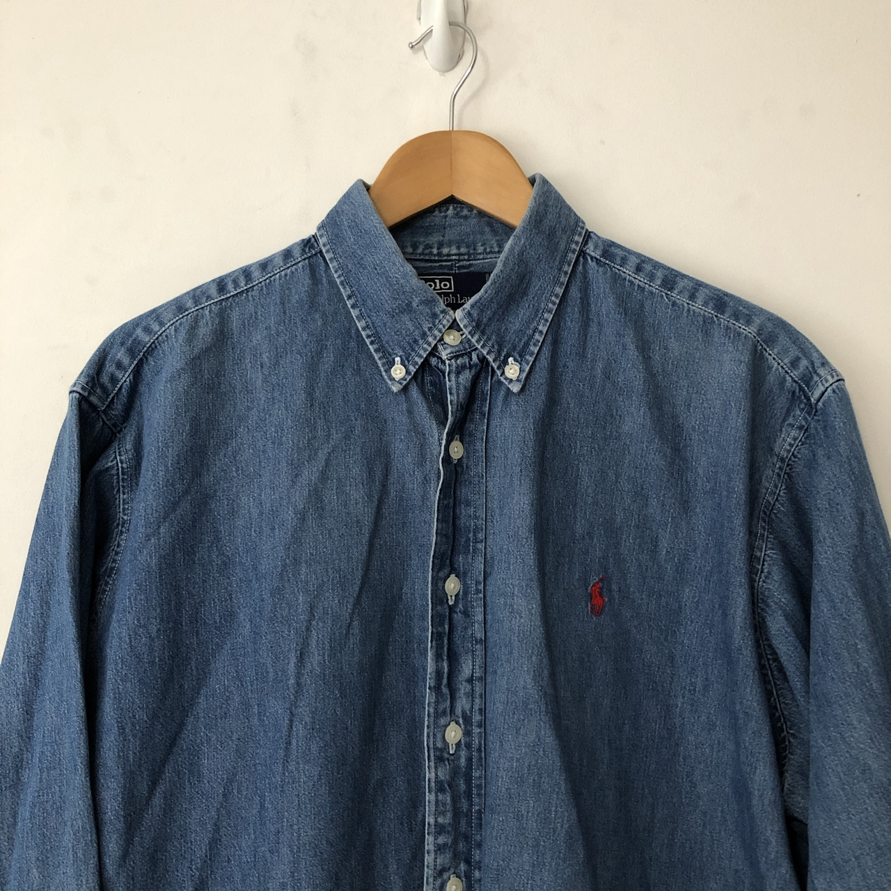Vintage Ralph Lauren Denim Shirt In L But Would Fit by Depop
