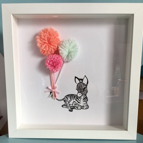 Baby Zebra Pom Pom Balloons 😊 These are so cute, the don\'t - Depop