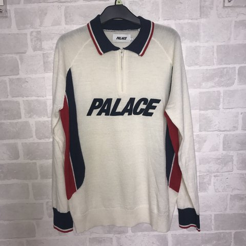 4248e3c7 Palace zip knit | long sleeve polo| Worn once, 10/10 message - Depop