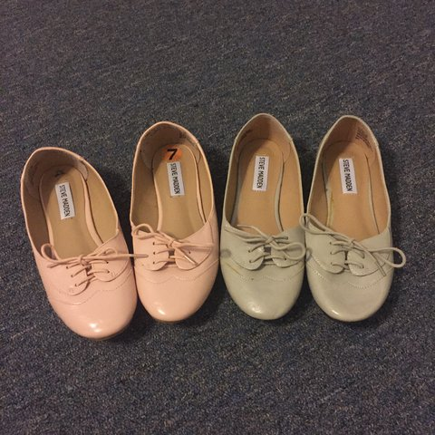 f73b616b628 these cute steve madden flats that look like oxfords for a I - Depop