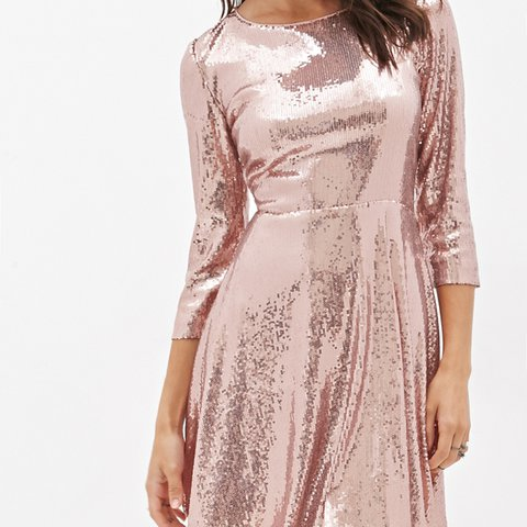 4b698816 @parker_mayhem. 2 years ago. Los Angeles, CA, USA. Forever 21 Pink Sequin  Sparkly Dress ...