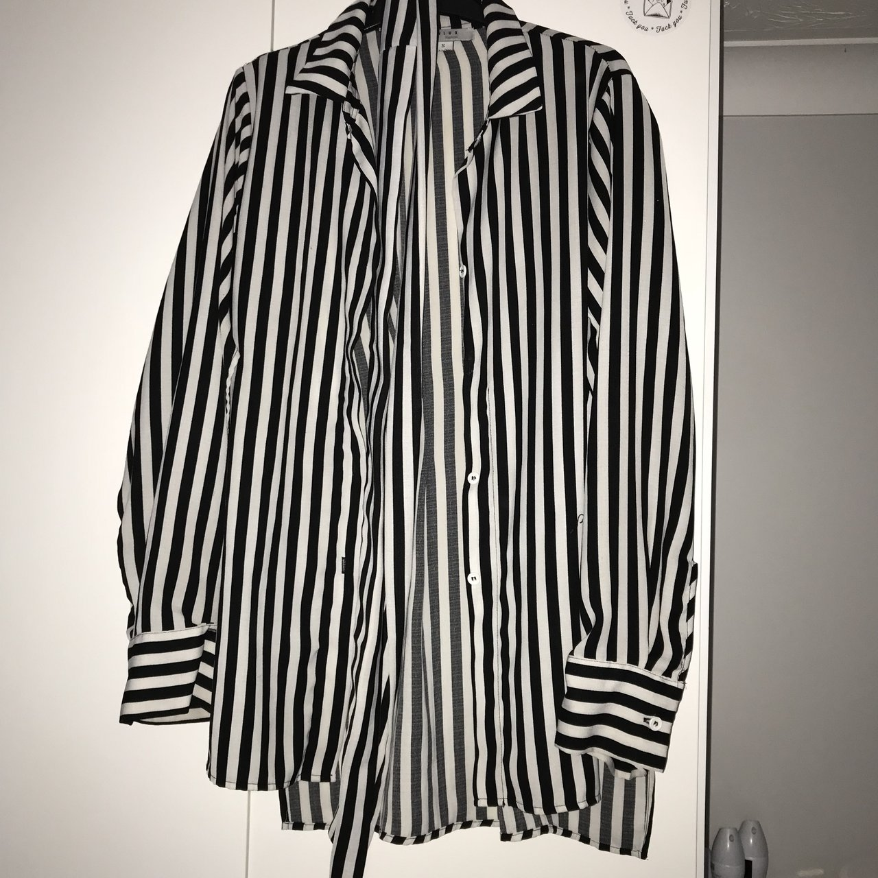 4a1d46aa432 Pinstrip blouse perfect condition. Size. £4. River island ...