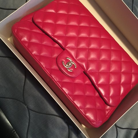 893fec58524 Chanel bag red authentic gold hardware comes with obly bag - Depop