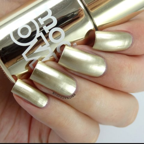Models own chrome gold metallic nail polish, new but Any to - Depop