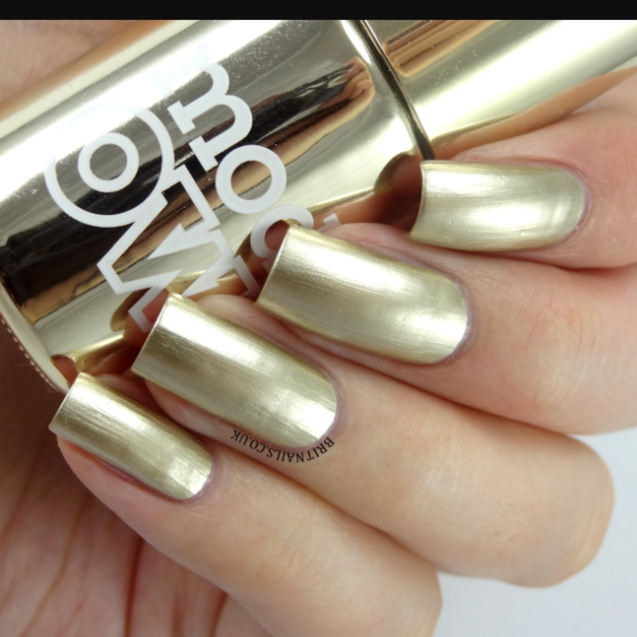 Models own nail polish in the shade chrome gold. basically - Depop