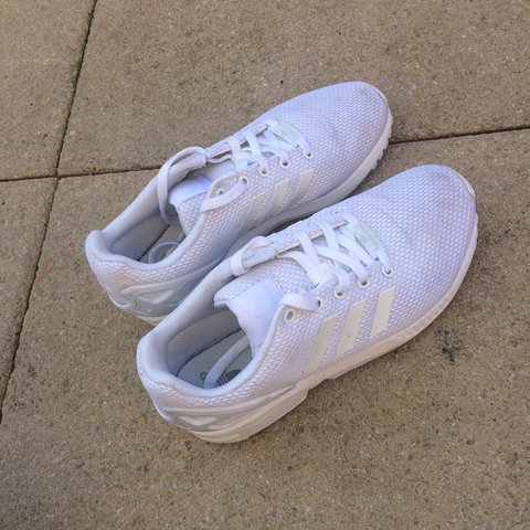 a8cd865ee5137 Adidas zx flux in all white. Have been worn a few times and - Depop