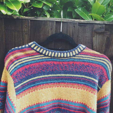 7ed5d9fe9d7 This jumper is absolutely INSANE! 😍😍 A vintage 80s early a - Depop