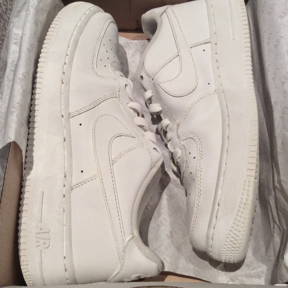 White Air Force 1 Size 6 Womens Barely Worn And Depop