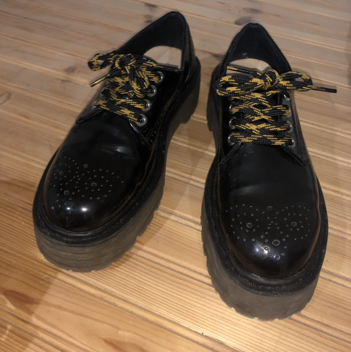 Black Platform shoes from Pull and Bear
