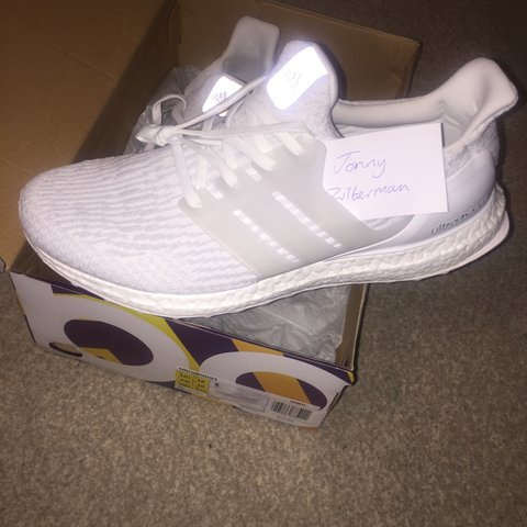 345e8d7cb Triple white ultra boost 3.0 in size 10uk brand new dswt out - Depop