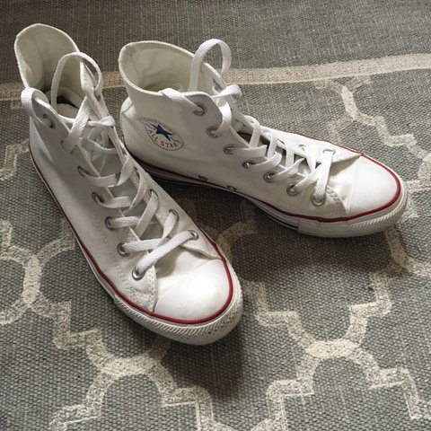 f367278d5bf White Converse All Star high tops. UK size 6. Really good a - Depop