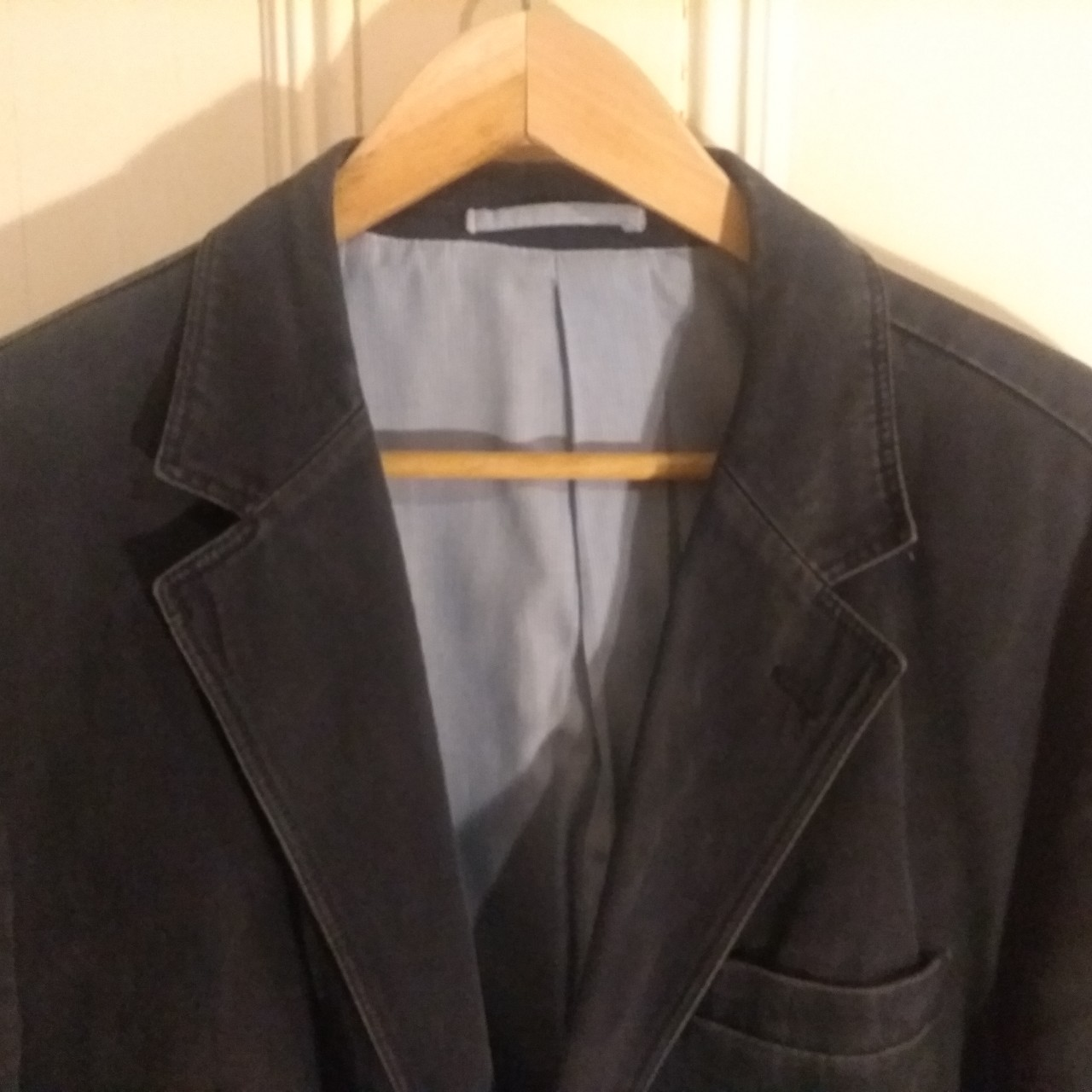 Navy Blue Austin Reed Jacket 100 Cotton Excellent Depop