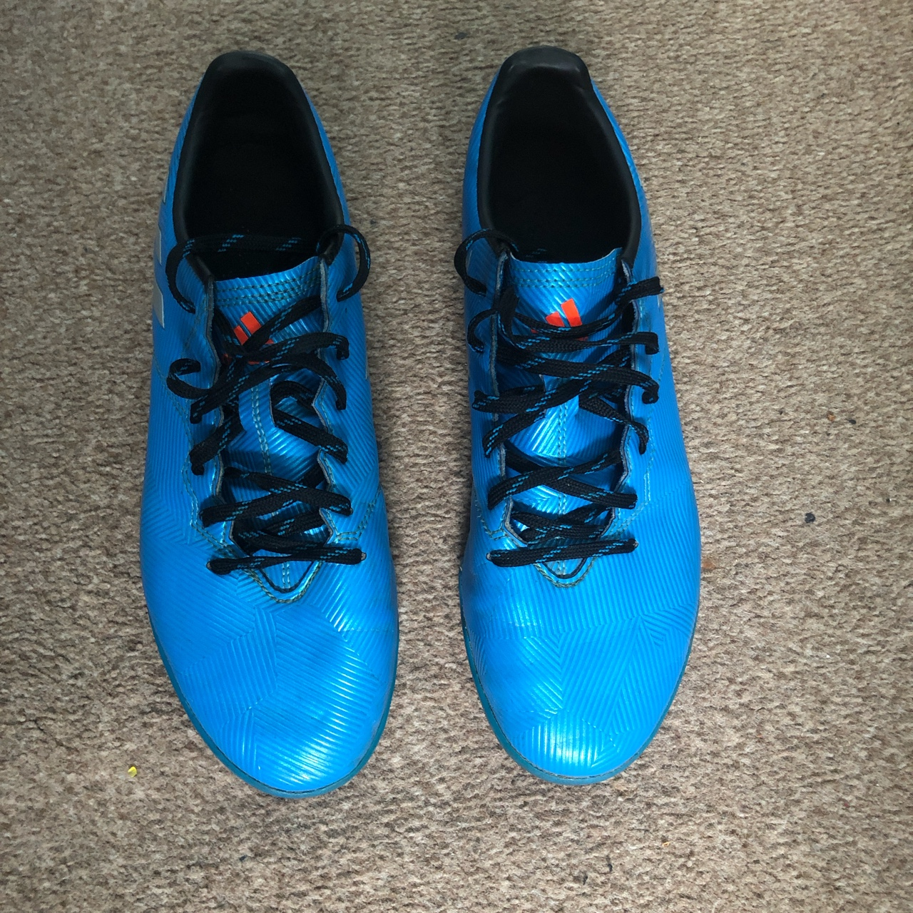 Adidas blue messi Astro turf boots 16.4