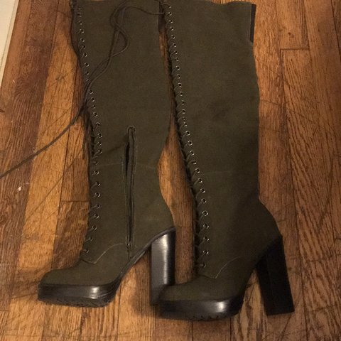 084543e446b  lilbecsxo. last month. United States. NWT Aldo over the knee boots. Lace up  ...