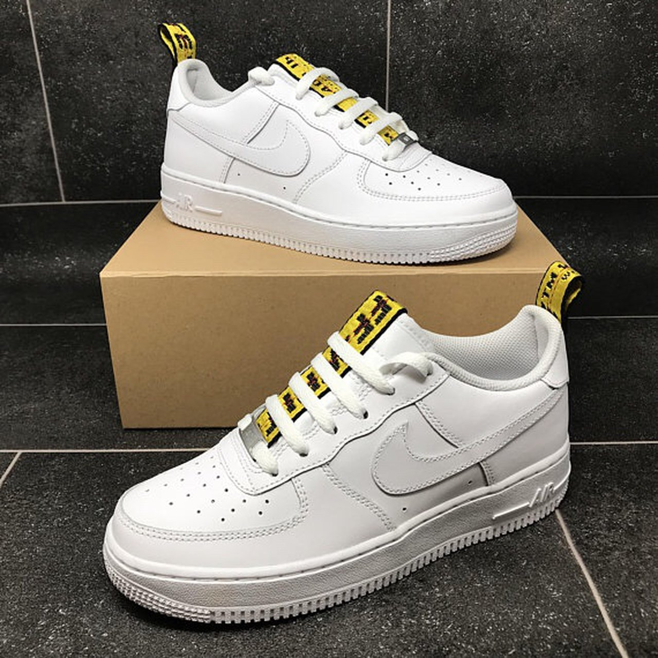 Off White X Air Force 1 Custom Nike Offwhite Depop