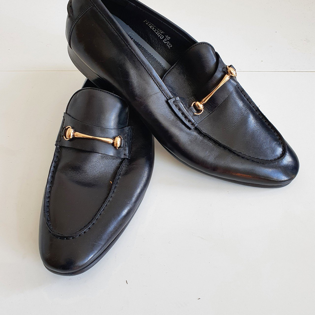 Dune Pinocchio snaffle loafer - black