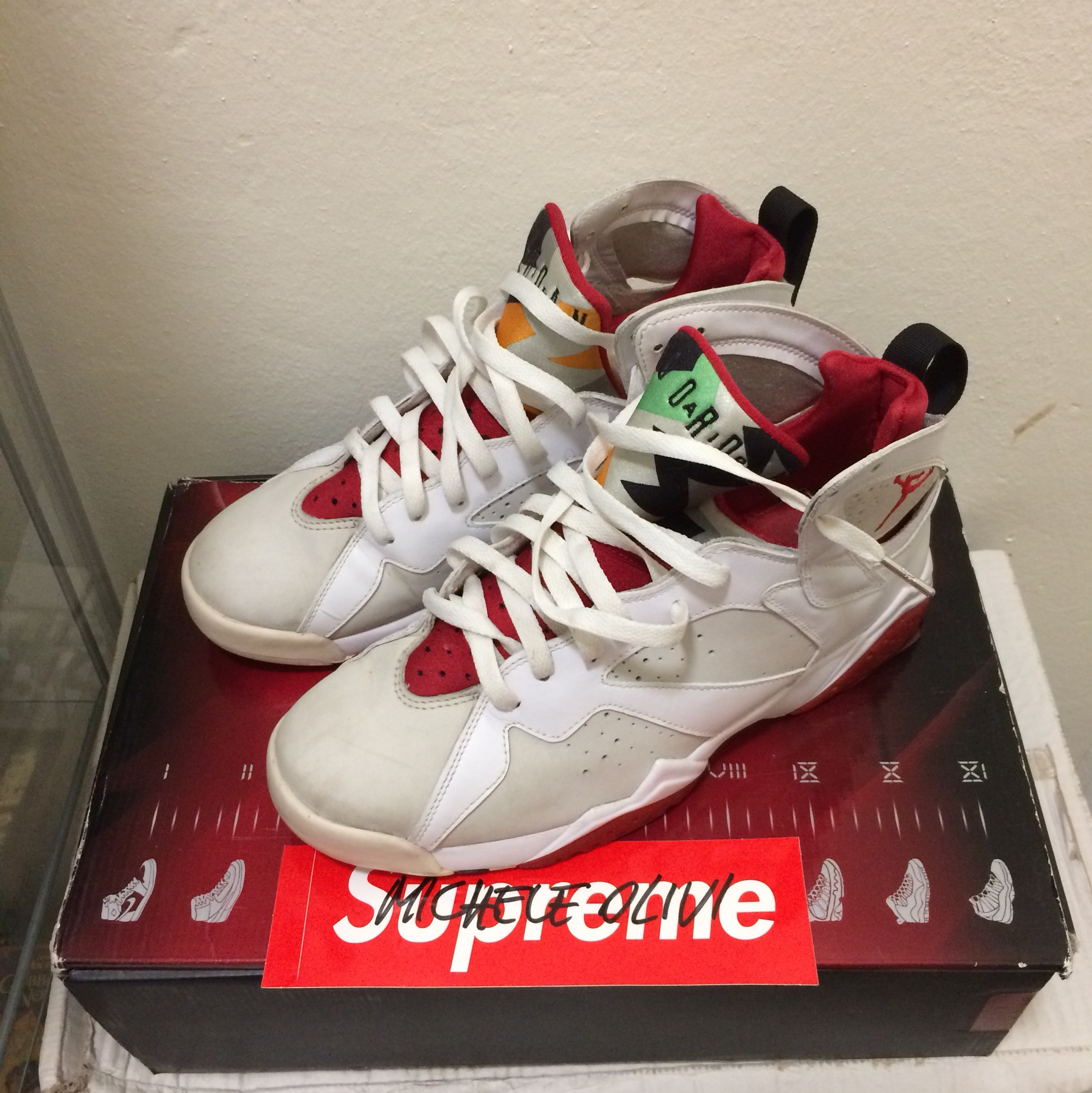 buy online 32278 85660 Air Jordan 7 Hare CDP pack Size 9.5 us Condition... - Depop