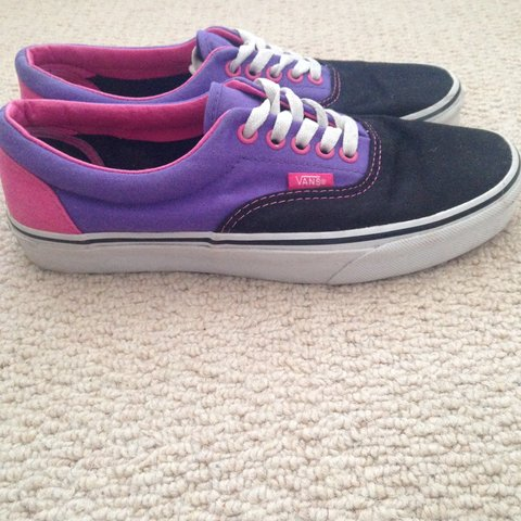 73aa95c6aa6b13 Era in Era (Tri-Tone) Black Purple Pink Vans Off The Wall UK - Depop