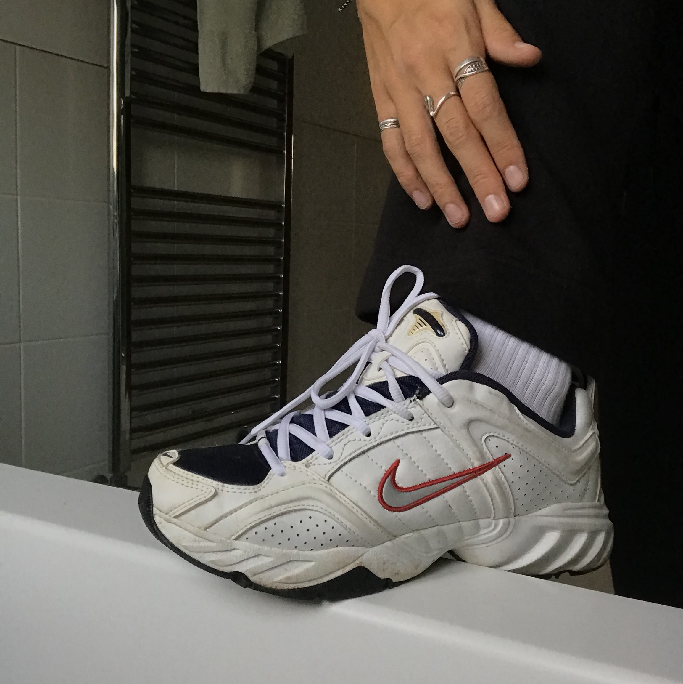 Nike air max shoes chunky white shoes