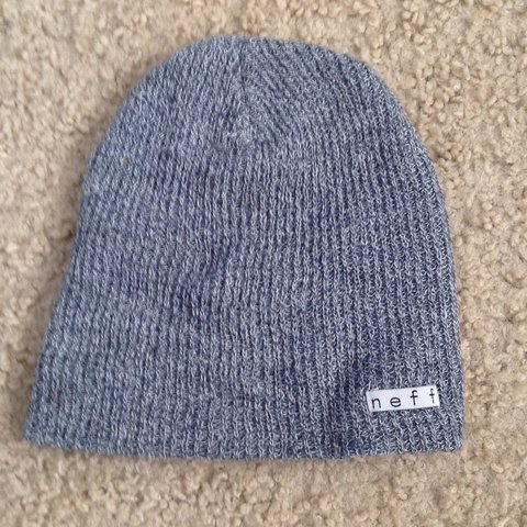 4f4655416f7 ITEM ON HOLD  Grey Neff Beanie Never used - Depop