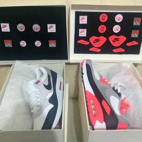 873c1b23c3 ON SALE Nike Air Max 90 Infrared Patch Sizes Available UK 9 - Depop
