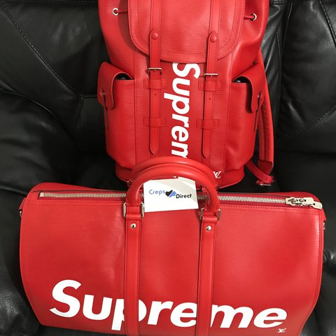 bf0228075406 Louis Vuitton X Supreme Red Keepall Christopher