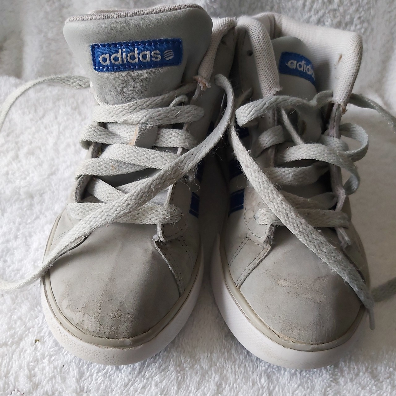 Adidas Grey high top trainers Boys size