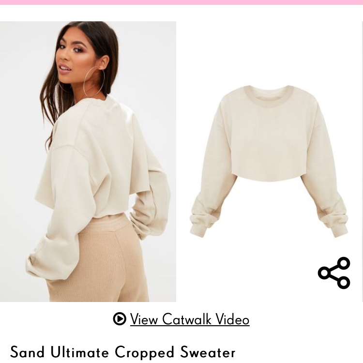 sand ultimate cropped sweater from pretty little Depop