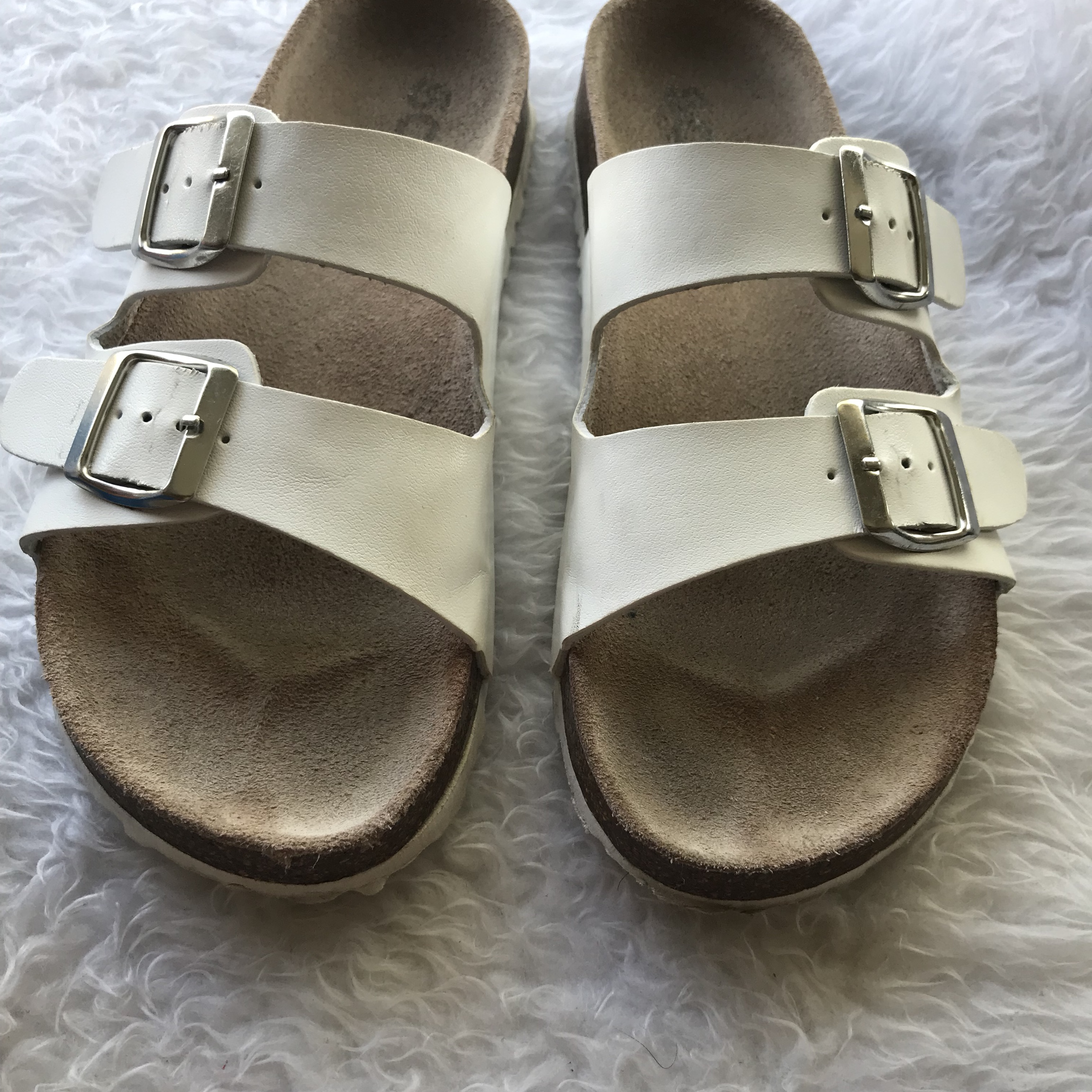 cheap for discount feabc 6b748 White SCHUH Birkenstock style sandals!! Bought off... - Depop