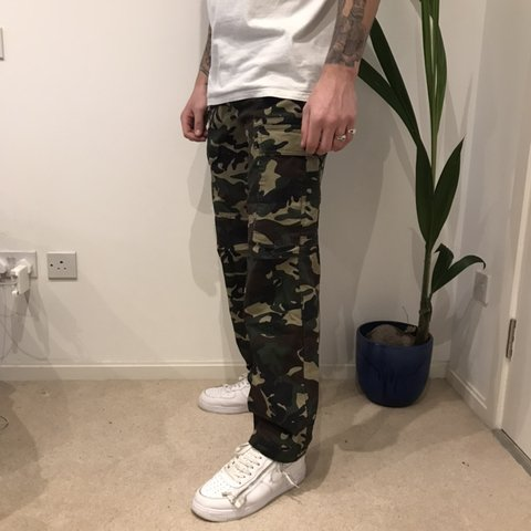 be763bf26a @mysteryjones. 3 months ago. London, United Kingdom. Dickies camo cargo  pants
