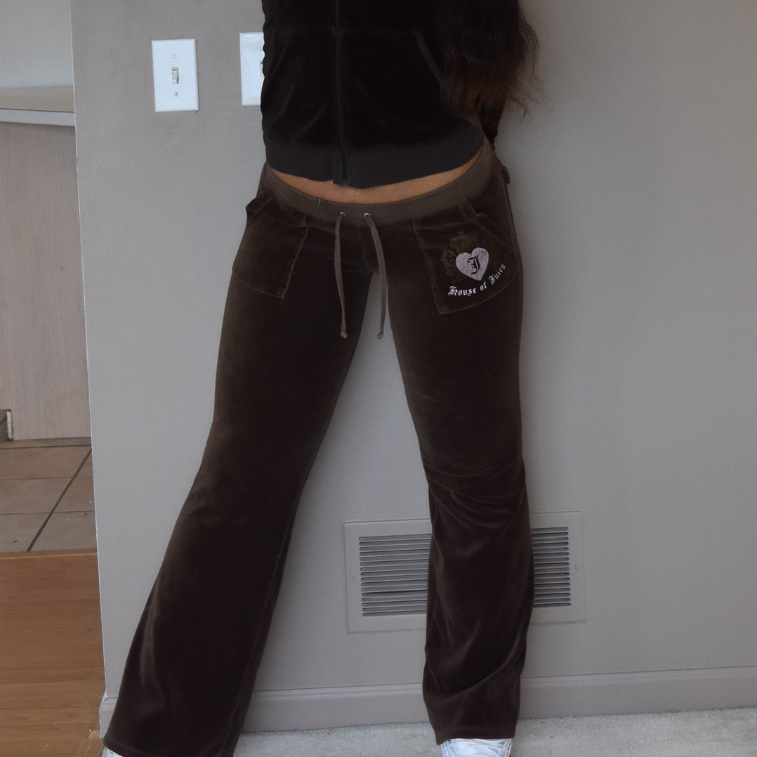 Juicy Couture Brown Velour Tracksuit Pants With Depop
