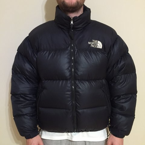 The North Face Vintage Puffa   Nuptse. Black. Size large. of - Depop 9dc5dd9a5