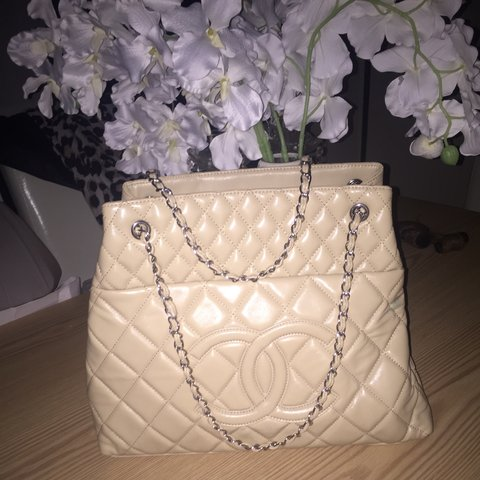 Cream chanel bag. Given as gift so not sure of authenticity. - Depop 841bcfd714444