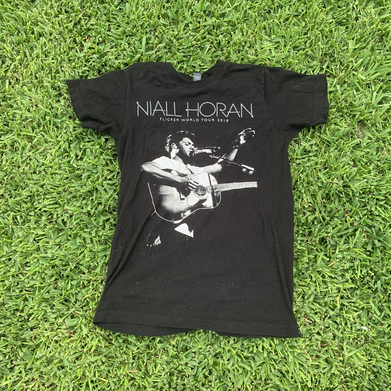 Niall Horan 2018 Flicker World Tour Merch Tee Shirt Depop